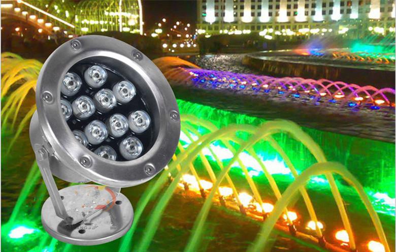 12W_Led_Underwater_Light_Outdoor_Fountain_Waterproof_1