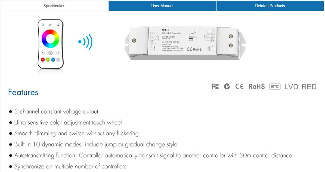 6A_3CH_RGB_LED_Controller_Kit_V3_L_R8_1_1