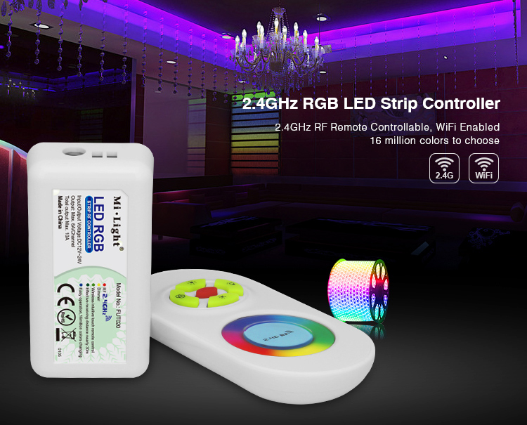 DC12V_24V_MiLight_FUT020_2.4GHz_RGB_LED_Strip_Controller_1