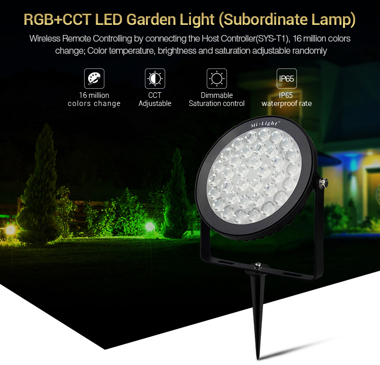 DC24V_MiLight_SYS_RC2_15W_RGB_CCT_LED_Garden_Light_Subordinate_Lamp_1