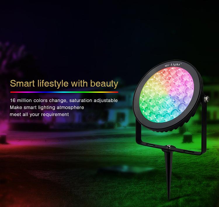 DC24V_MiLight_SYS_RC2_15W_RGB_CCT_LED_Garden_Light_Subordinate_Lamp_5