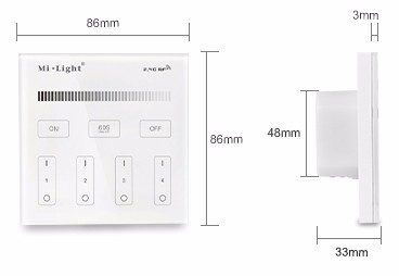 Led_controller_dimmer_Milight_controller_T1_4_Zone_4