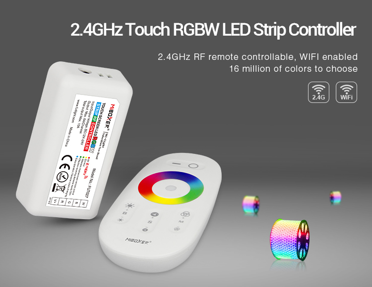 MiLight_FUT027_2.4GHz_DC12V_24V_Available_Touch_RGBW_LED_Strip_Controller_1