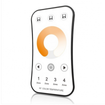 4 Zones RF 2.4G LED Color Temperature Remote R7 For For CCT Dual Color LED Strip Light