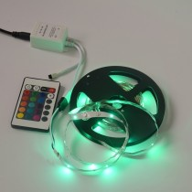 5M 3528 300 SMD Flexible LED Strip Light 24 Keys IR Remote Controller
