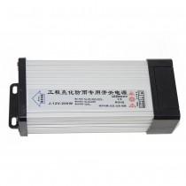 DC12V 200W Outdoor Rainproof LED Driver Adapter Lighting Transformer