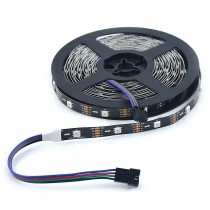 APA102 LED Strip Lights 16.4ft 5m 150LEDs 5050 RGB Individually Addressable 5V