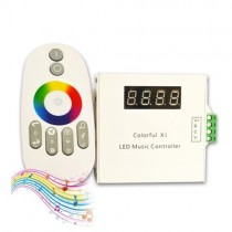 DC12V 24V 33 Mode Wireless RF Touch Remote Touching LED Music Controller