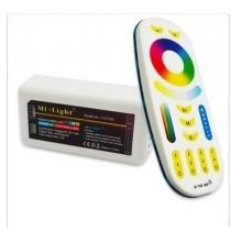 DC 12v 24v 6A 2.4G Wireless Mi.Light Remote Receiving RGBW Controller