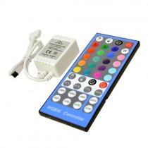 12V 24V 8A mini LED RGBW Controller With Infrared Remote Control 2pcs
