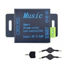 DC5V 12V 24V Music Controller Signal Amplifier For WS2811 WS2812B Lights