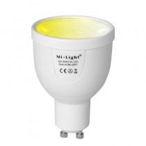FUT011 Mi.light 5W GU10 Dual White LED Spotlight Phone App Wifi Dimmable CT Lamp