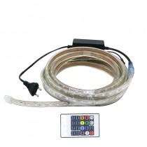 220V 240V 5050 RGB LED Strip Light 60LED/M With Plug And Controller Set