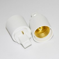 10PCs GX24 to E27 2pin Adapter Converter Base Holder Socket White