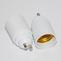 10PCs Gu10 to E27 Adapter Converter Base Holder Socket White