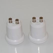 10Pcs GU10 to E17 Lamp Base Socket White Flame Resistance PC for E17 LED Bulb Holder GU10 Socket