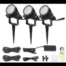 FUTC08A MiLight 2.4G DC 24V 6W RGB+CCT Waterproof LED Garden Light + Power Cable Kit Ourdoor Lighting Gear