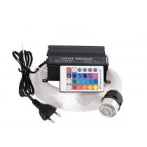 16W RGBW 150pcs*0.75mm*2M LED Fiber optic light Star Ceiling Kit Lights optical lighting+RF 24key Remote engine