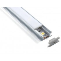 1M Led Flat Recessed Extruded Aluminum Channel Profile 20pcs