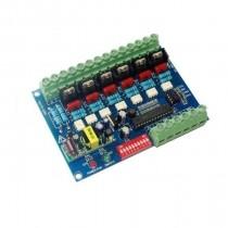 AC 110V-220V 6 CH DMX Controller DMX512 Decoder WS-DMX-HVDIM-6CH