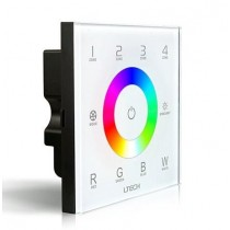 LTECH DX8 Led RF Wireless DMX512 4 Zones Glass Touch Panel Controller