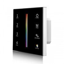 Skydance T15-1 4 Zones 2.4G RGB+ Color Temperature Touch Panel Remote LED Control AC 85-265V